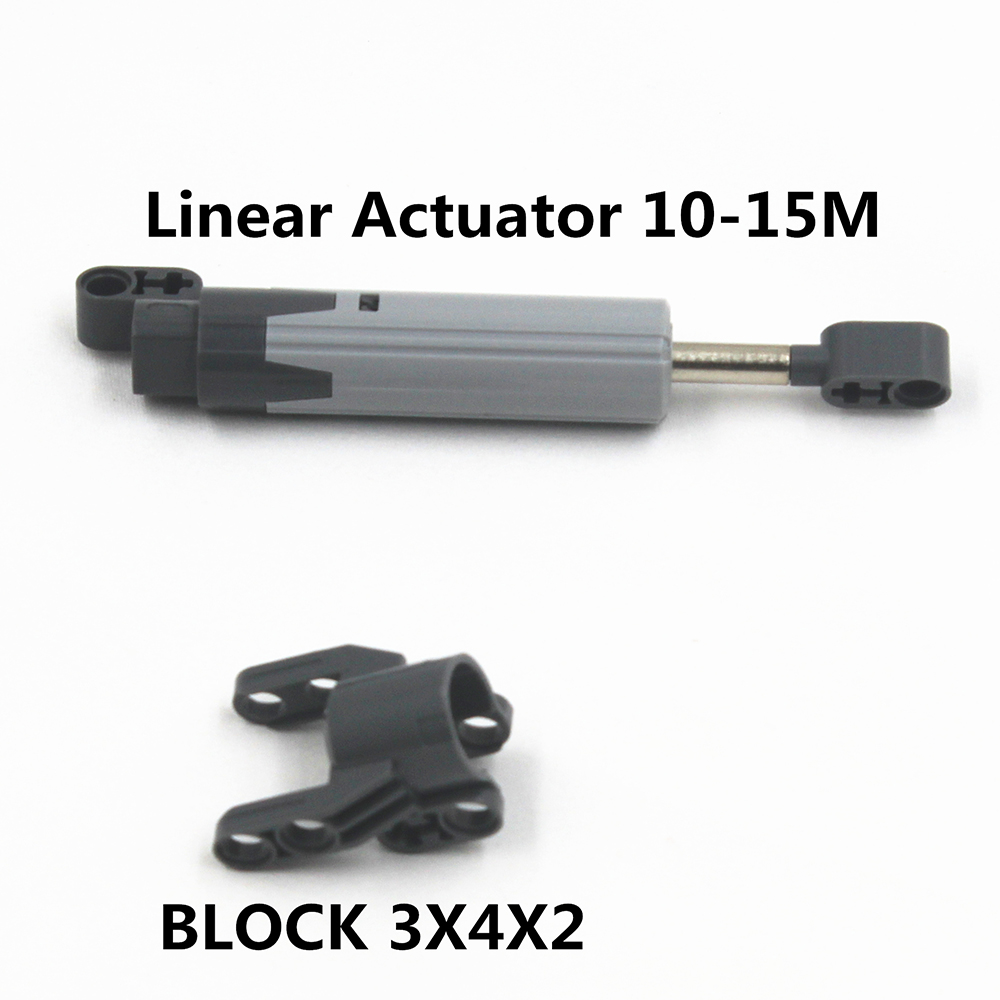 Self-Locking Bricks MOC Building Blocks Technic 1 Set Linear Actuator 10-15M+BLOCK 3X4X2 Compatible With Lego 4528037