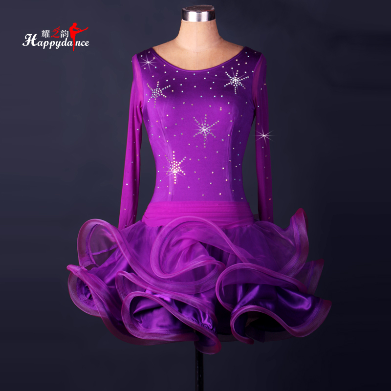 2017 New style Adult/Children Latin Dance Dress Girls/Lady Cha Cha/Rumba/Samba/Tango/Ballroom Dance Skirt Diamonds Costumes