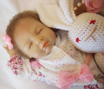 sleeping silicone doll reborn 18 inch Cute Silicone Reborn Baby Dolls New lovely Baby Doll Toys for children Christmas gifts