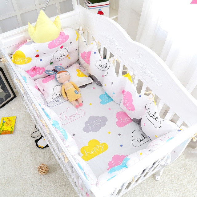 10 Pcs Confortable Nuages Bebe Apaiser Ensemble De Literie De Coton
