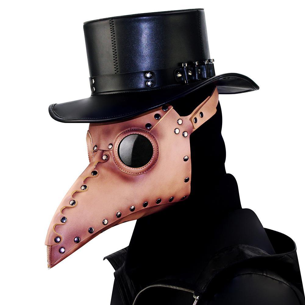 MISSKY Halloween fête Cosplay PU masque bec oiseau bouche masque Steampunk accessoires pour mascarades Costume accessoire