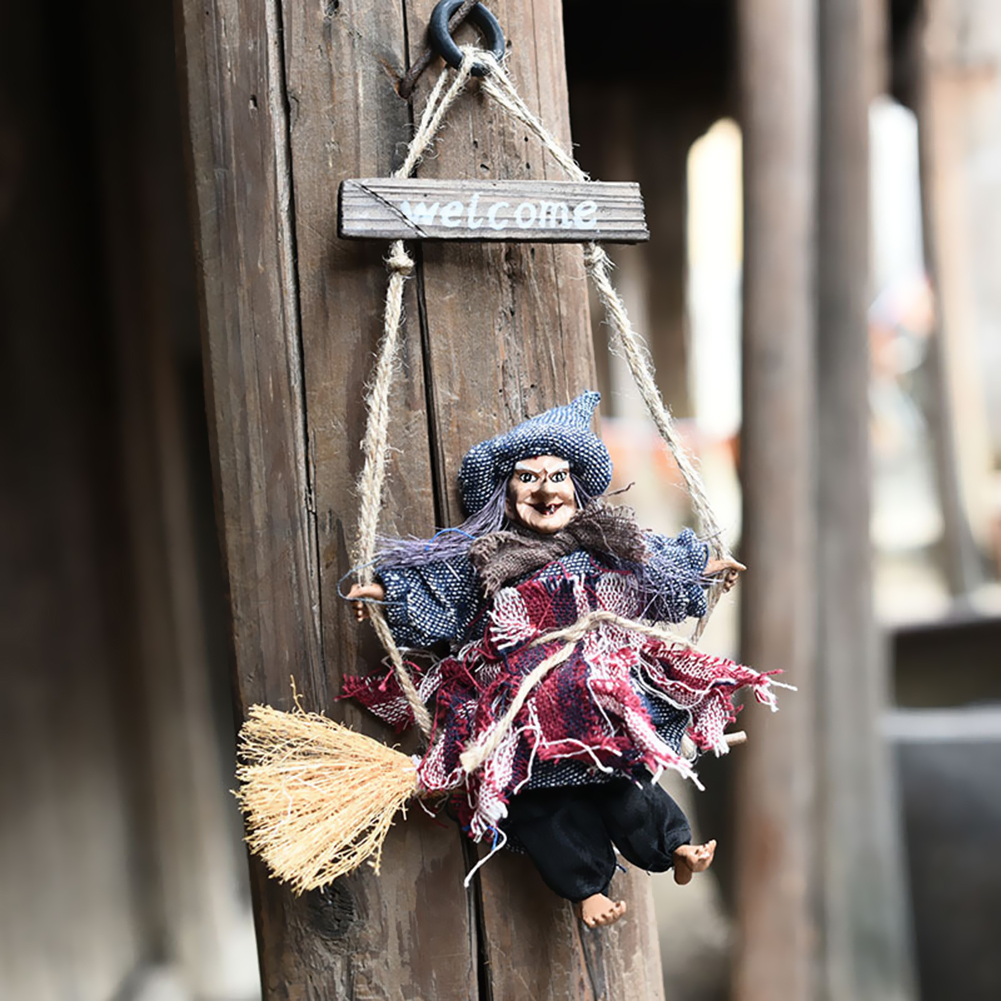Broom Witch Halloween Vintage Decoration Props Scary Haunted House Bar KTV Party Decorations Prop Holiday Tricky Toy AccessoriesBroom Witch Halloween Vintage Decoration Props Scary Haunted House Bar KTV Party Decorations Prop Holiday Tricky Toy Accessories