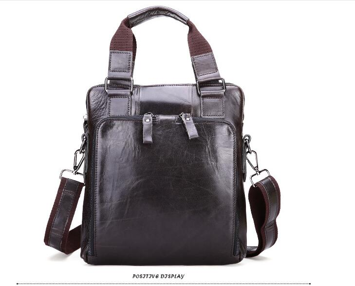 Genuine leather vitage male messenger bag first layer cowhide leather men shoulder bag wax oil leather one   cross body bag leather handbag shoulder bag casual first layer of leather men s oil wax messenger bag korean man bag tide