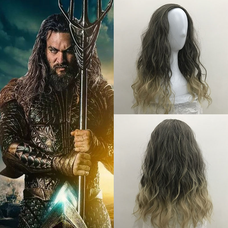 Movie Justice League Aquaman Wig Role Play Hair Comic Cosplay Costume Wigs Jason Momoa Mera Cosplay Wig Party Wig Red