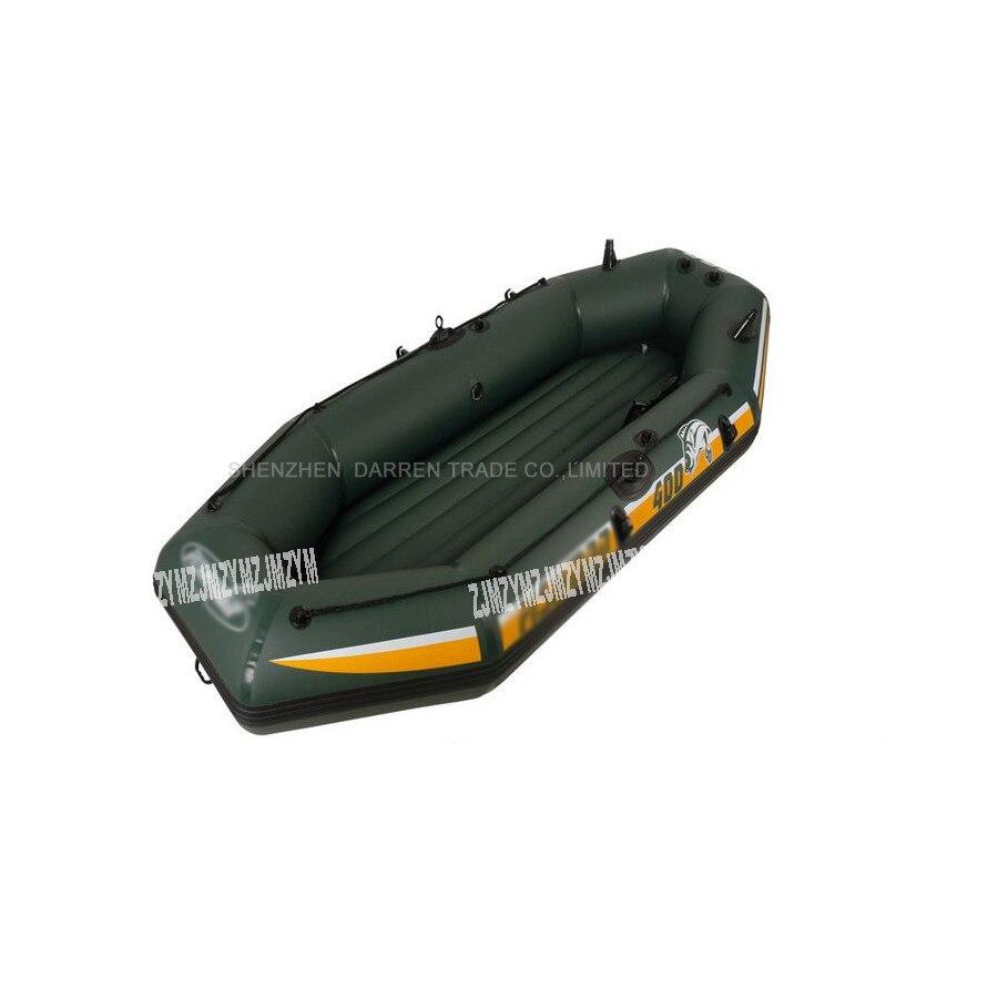 Bateau gonflable de 4 personnes pêchant des bateaux de Pvc rwing bateau à la dérive pour la dérive avec la pompe et les rames