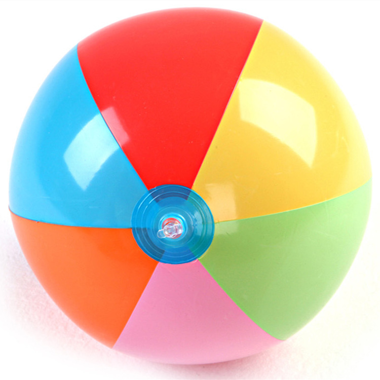 New Arrival Colorful Pvc Inflatable Ball Beach Sand Ball  Water Fun Toys Pat Ball 30cm Kids Lovely Gifts
