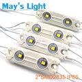 500 pcs transporte livre Pure White / branco quente / Nature branco / branco fresco 2 * SMD2835 LED Injection módulo luz com 3-ano de garantia