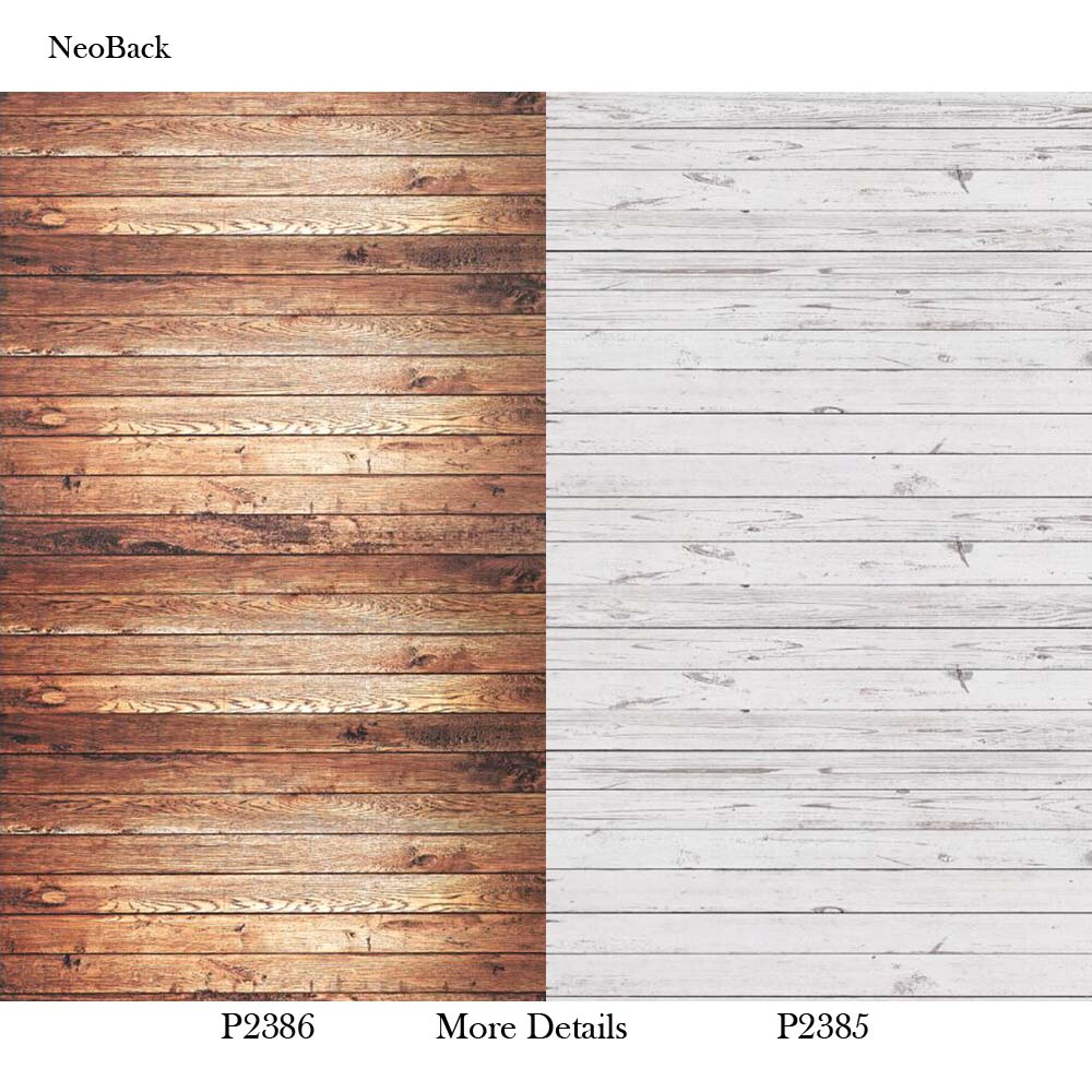 NeoBack Photography Background For Studio Photo Props Thin Wood Grain Photographic Backdrops White Brown plank Backgrounds 5x7ft vinyl photography background white brick wall old wood texture photographic backdrops for studio photo props 2 1m x 1 5m
