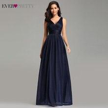 Шикарное вечернее женское платье Ever Pretty с v-образным вырезом А-силуэта без рукавов в пол EZ07764NB блестящее пикантное вечернее платье Robe De Soiree