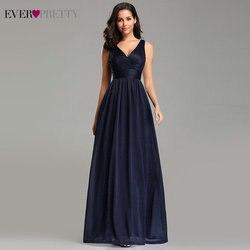 Шикарное вечернее женское платье Ever Pretty 2020 с v-образным вырезом А-силуэта без рукавов длиной до пола EZ07764NB пикантное вечернее платье с блестк...