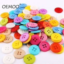 100pcs4 Holes Buttons  Mixed Round Resin Sewing for Scrapbooking craft Fashion Accessories