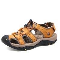 Mens Gladiator Sandals Men Shoes Sandals Summer Genuine Leather Crocse shoes Sandalias Hombre Sandles flip flops slippers Beach