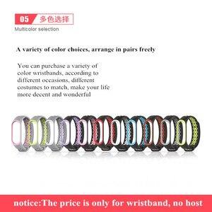 Image 5 - Sport Mi Band 3 4 Strap handgelenk gurt für Xiaomi mi band 3 sport Silikon Armband für Mi band 4 3 band3 smart uhr armband