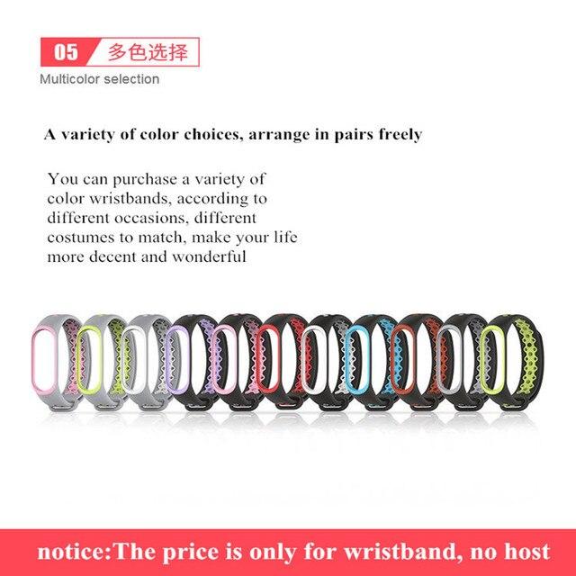 Sport Mi Band 3 Strap wrist strap for Xiaomi mi band 3 sport Silicone Bracelet for xiaomi Mi band 3 band3 smart watch bracelet  4