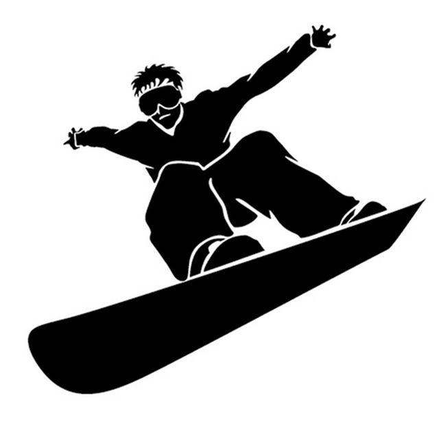 Color Snowboarding Helmet Decal Snowboarding Wall Art Window Sticker Snowboarder Jump Decal Snowboarding Sticker Choose Size