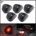 5 Peças Preto Fumado Cab Roof Marcador Lâmpadas Funcionando com o Branco, azul, vermelho ou Amarelo Luzes LED Para O Caminhão ou SUV