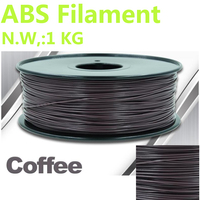 Coffee Color 3d Plastic Filament Abs 1 75 Mm Impressora 3d Filamento Abs High Quality 3d