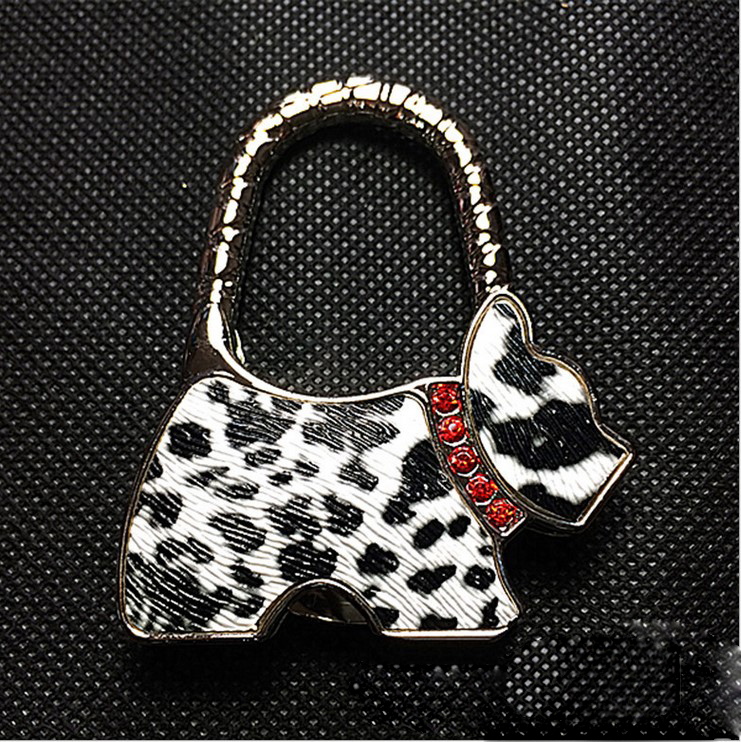 100 Pcs Lot Dhl Fedex Free Shipping Folding Handbag Purse Bag Hanger Table Hook Hang Holder Dog Shape In Parts Accessories From Luggage Bags On