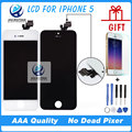 10PCS/LOT AAA Quality No Dead Pixel For iPhone 5 LCD With Touch Screen Digitizer Assembly black white Freeshipping DHL
