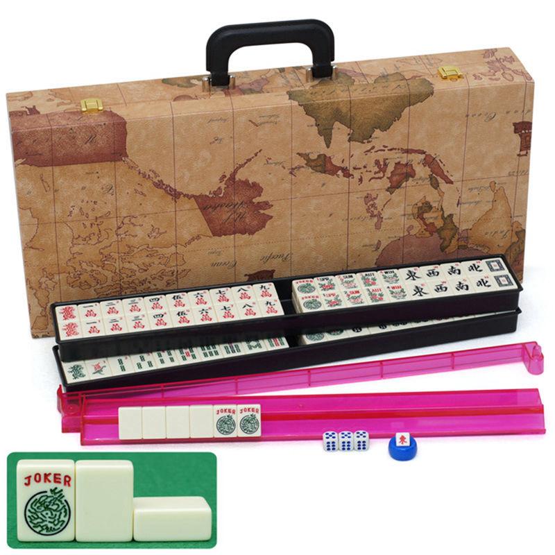 Chino Antiguo Mini Mahjong Juego De Mesa Juegos Con Instrucciones