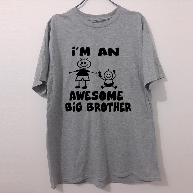 Funny Awesome Big Brother Birthday Present Kids Tshirt For Men Summer Fashion Letter T Shirt Cotton Casual