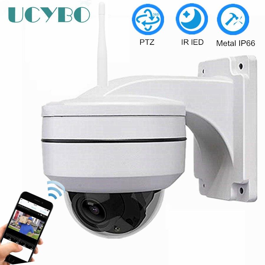 Caméra ip wifi UCYBO ptz 1080 p mini dôme de vitesse caméras de sécurité sans fil en plein air panoramique inclinaison 3x zoom vidéo surveillance caméra wi-fi