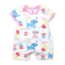 Baby Boy Clothes Newborn Rompers Summer Short sleeve 100% cotton Cartoon Print 1 Pack Infant Jumpsuits 6-24 Months