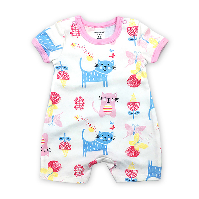 fae0e4f85 Baby Boy Clothes Newborn Rompers Summer Short sleeve 100% cotton ...