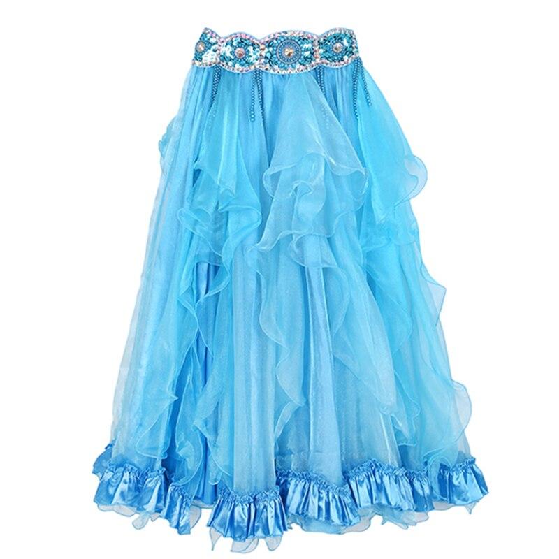 2018 danse du ventre porter des accessoires de Costume Maxi longue jupe Performance côté fendu jupes de danse du ventre
