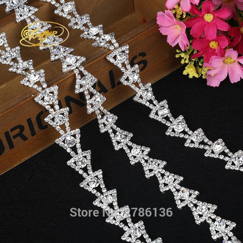 1YD Kristall Strass Diamant Applique Kleidung Hochzeit Schuhe - Kunst, Handwerk und Nähen