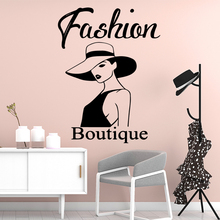 Creative Fashion Boutique Woman Pvc Wall Decals For Girl Rooms Stickers Wallpaper Background Art Decal naklejki