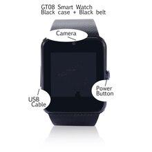 Gimnasio smart watch gt08 apoyo sim y tarjeta tf bluetooth relojes inteligentes con cámara y mp3 para ios y android
