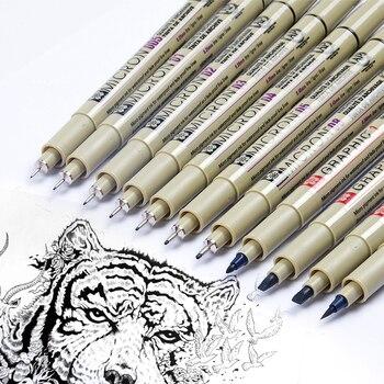 Sakura 13 Diverse Dimensioni Pigma Micron Inchiostro della Penna Della Spazzola Set Pennarelli Artistici Disegno A Penna per la Progettazione Manga di Disegno Comico