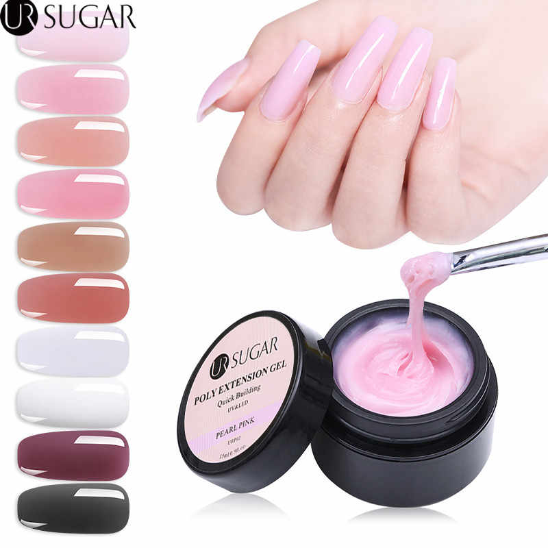 Ur Suiker 15 Ml Quick Building Poly Nail Gel Roze Kristal Jelly Builder Uv Gel Vinger Extension Building Gel Tips