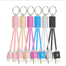 10 pcs Android 2 in 1 Data Cable Micro USB Keychain Line 20cm Noodle for Iph 6 7 8 X XS Mobile Phone Fast Charging