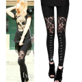2016 autumn NEW punk gothic rock legging sexy lace splice vestidos femininos american apparel Leggings free shipping