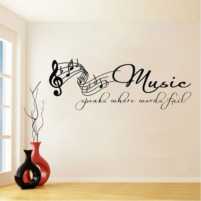 Tabs Note Lettering Quotes Removable Wall Sticker for Music Living Room Art Decoration Vinyl Decals Poster Stickers SA32 3