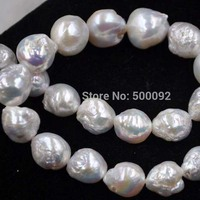 GORGEOUS 11 14mm luster white Furrow Kasumi real natural pearl string