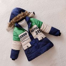 2016 Winter Jackets for Boys Parka Childen Down Jackets Boy Coats Warm Kids Baby Thick Cotton Down Jacket Cold Winter