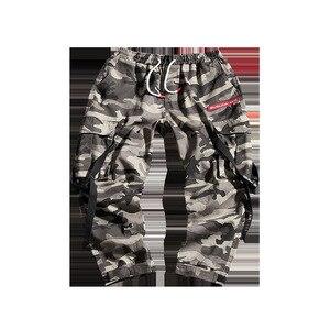 Image 4 - Harem pantolon Kamuflaj Erkekler Kargo Pantolon Taktik Streetwear Pantolon Sarı Rahat Camo Pantolon Çok Cep 2019 Bahar WG219