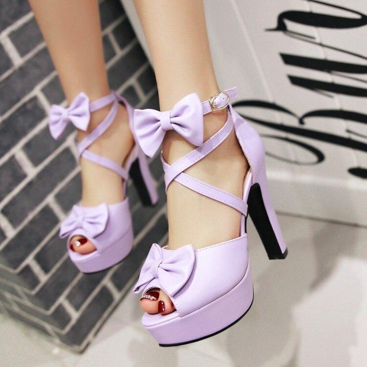 Black Platform Sandals All-Match High Heels Bow Shoes Suit Female Beige Open Toe Espadrilles For Heeled Peep Fashion Gladiator(China)