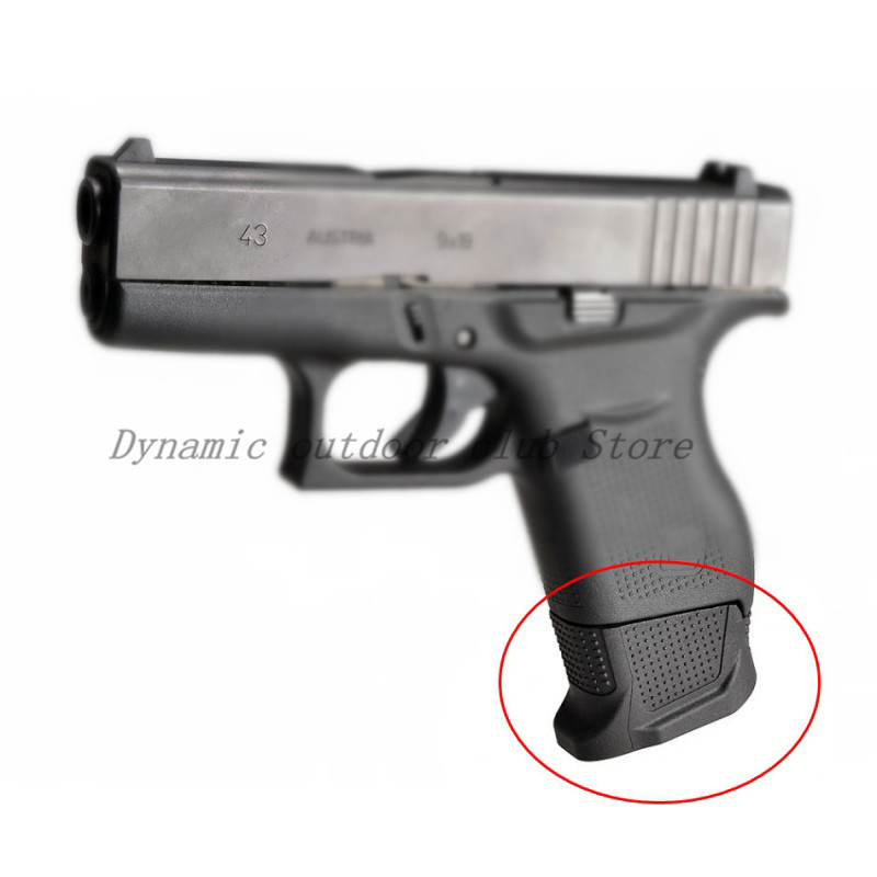 1 pz Tactical Slip On Cover In Rubber Pad Gun Handle 2 Round Capacity More Than Extended Accessories For Glock 43
