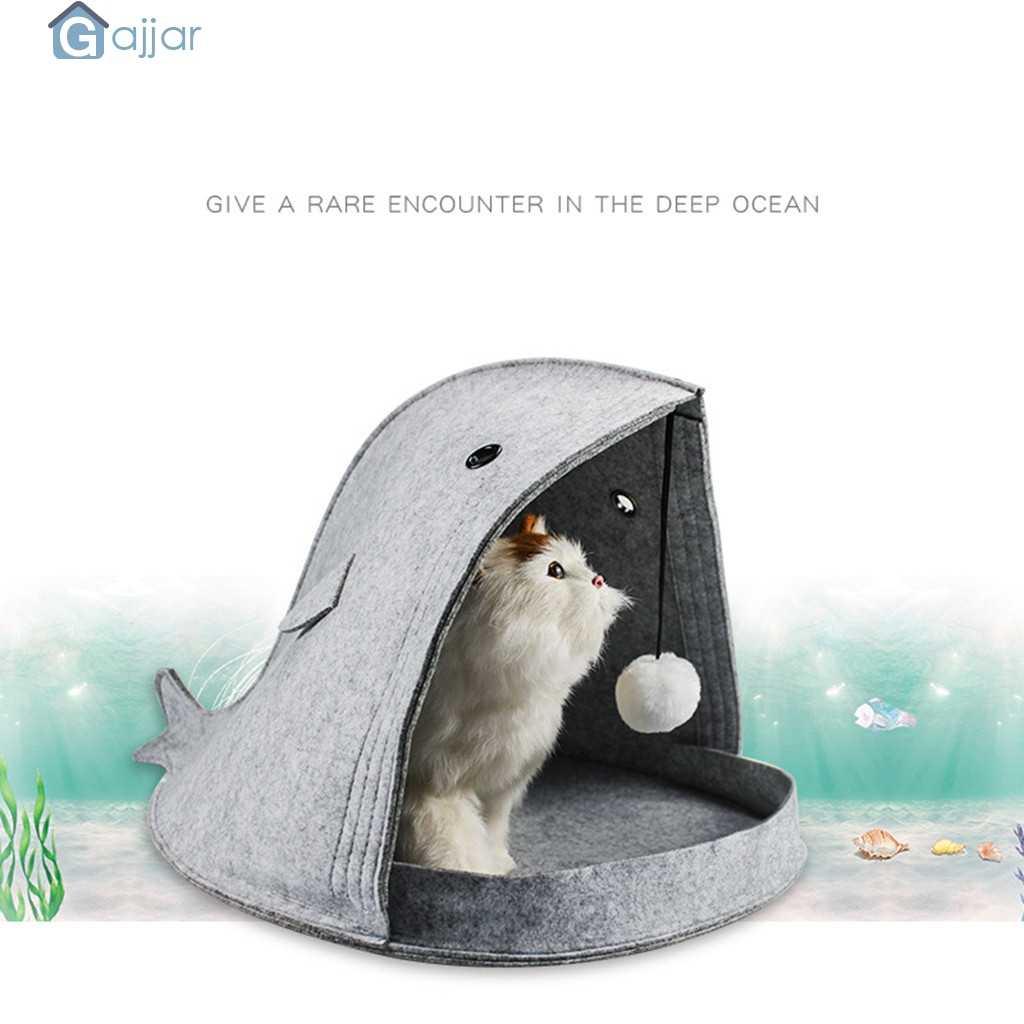 2019 новая кровать для палаток для кошек, крытая Закрытая клетчатая кровать для домашних животных, создающая безопасность, теплая маленькая кровать для кошек 19APR3