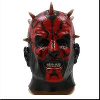 2015 Free shipping Adult Star Wars Deluxe Darth Maul Latex Halloween Alien UFO Face Head Mask Party Cosplay Scary Horror Mask