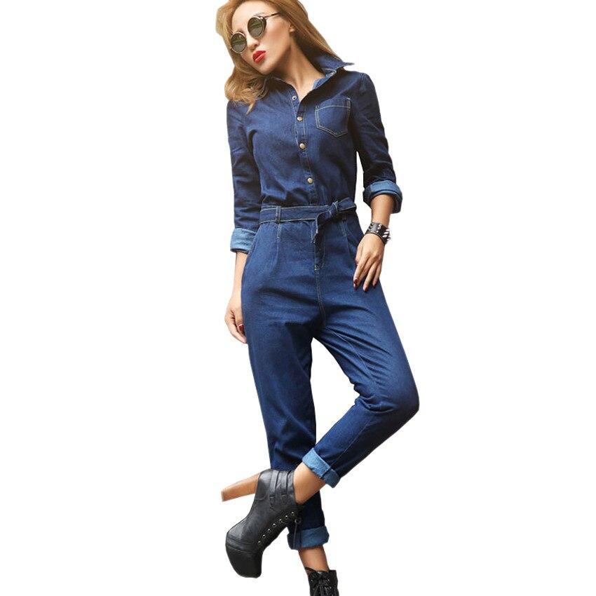 aliexpress buy denim jumpsuit 2017 new