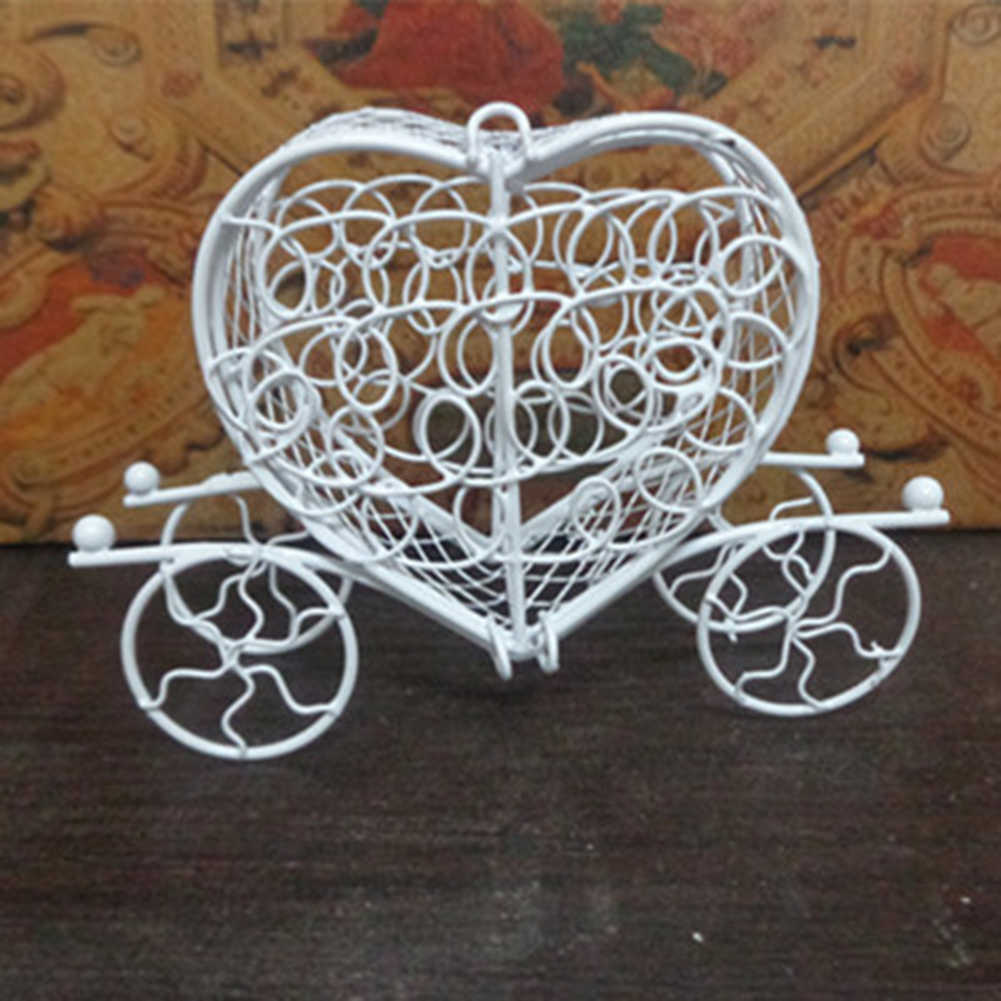 New Metal Love Heart Carriage Birthday Party Wedding Chocolate Candy Box Holder Gift