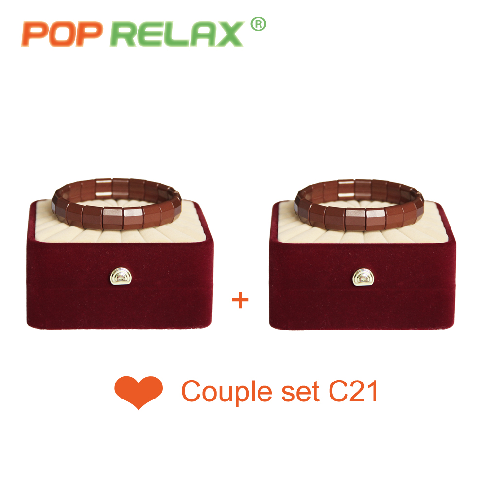POP RELAX Korea germanium tourmaline bracelet for couples health care new fashion women anion stone bracelet physical therapy pop relax tourmaline health products prostate massager for men pain relief 3 balls germanium stone far infrared therapy heater