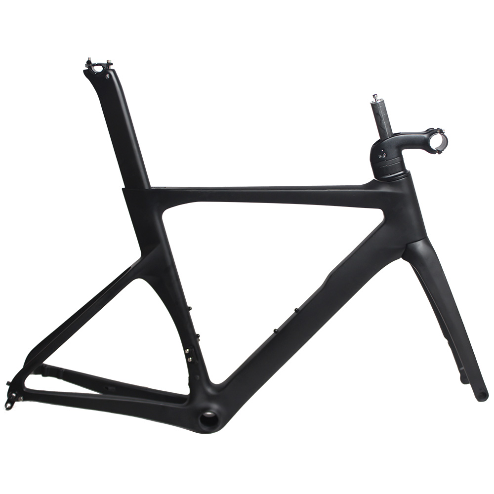 full internal cables routing high stiffness cheap road bike toray carbon frame fork michael jackson black and white cover gold black l