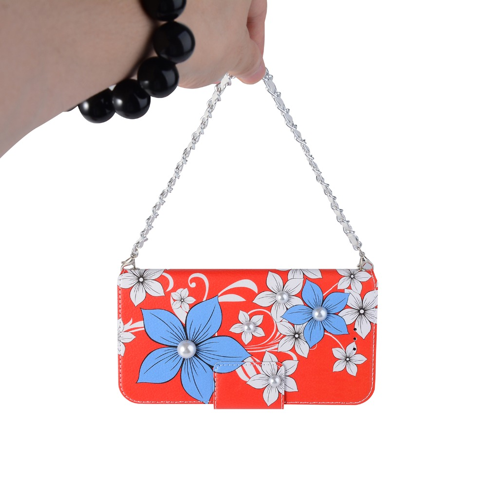 For iPhone 6 6s 7 8 plus X For Samsung galaxy s8 s9 plus note 8 Cute Flower card pocket Handbag Wallet leather phone case cover