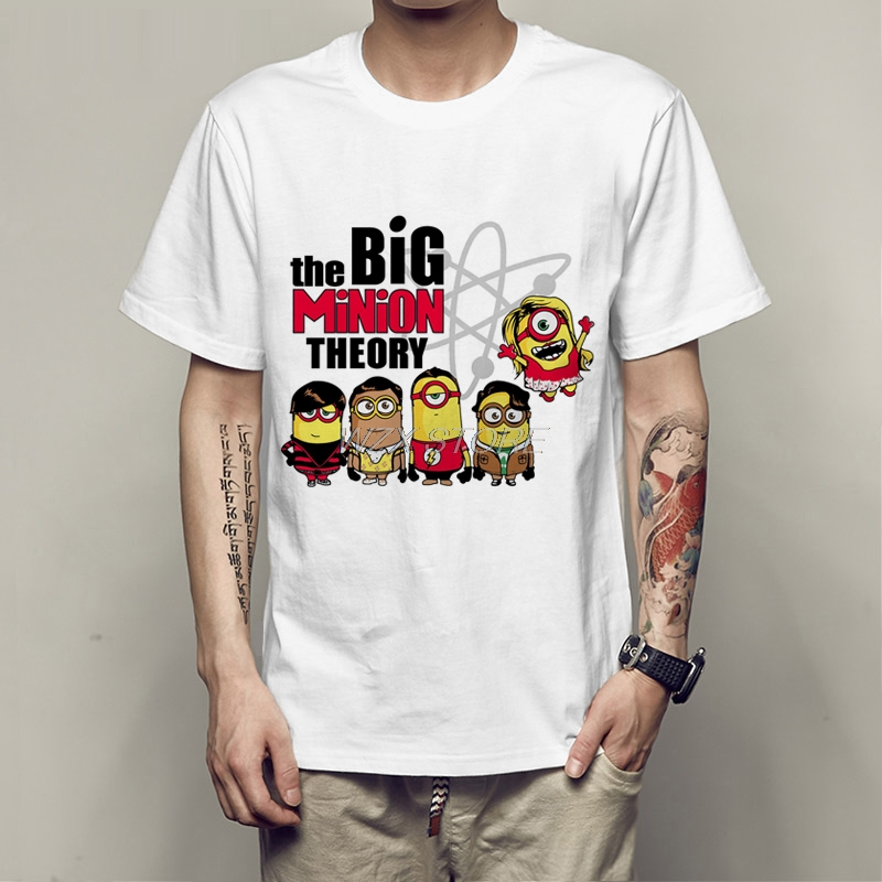 2019 The Big Bang Theory T-shirt men Sheldon Cooper Schrodinger 's Cat T shirt Anime Print Shirts for boys